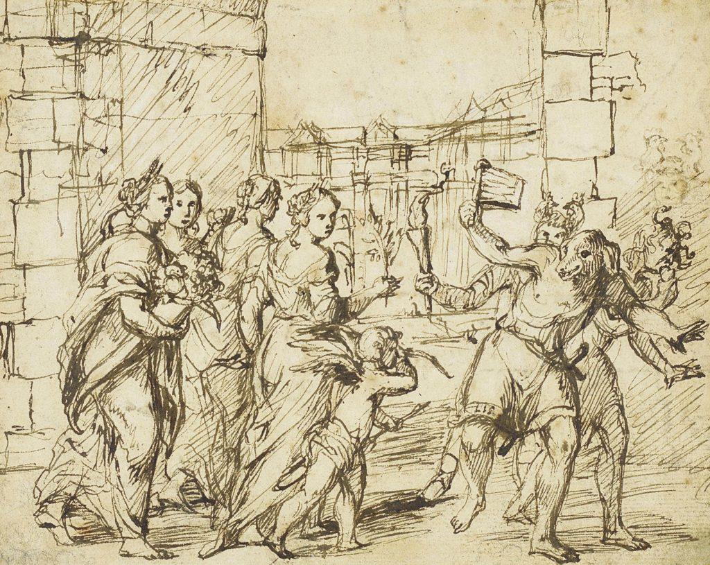 Celebración de las Lupercales en la antigua Roma