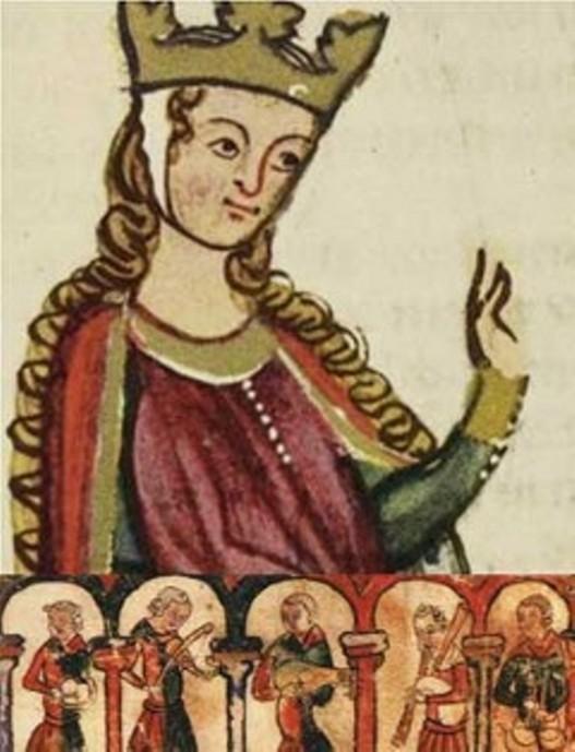 fresco medieval de leonor de aquitania