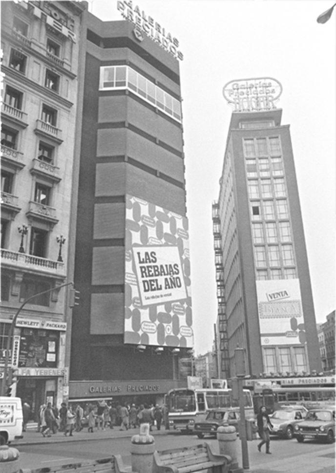 Galerías Preciados en los años setenta