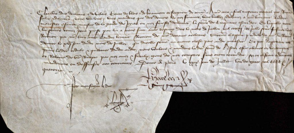 primera tarjeta manuscrita de san valentin del año 1415