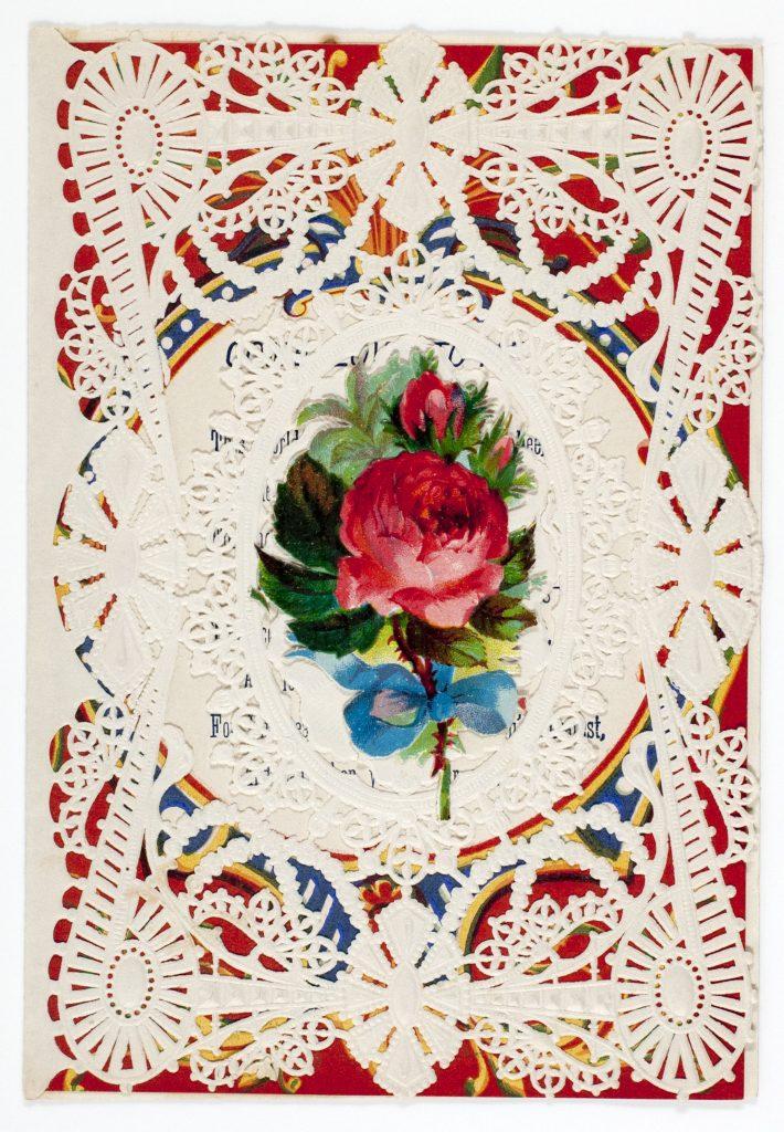 Tarjeta de Esther A. Howland. Siglo XIX