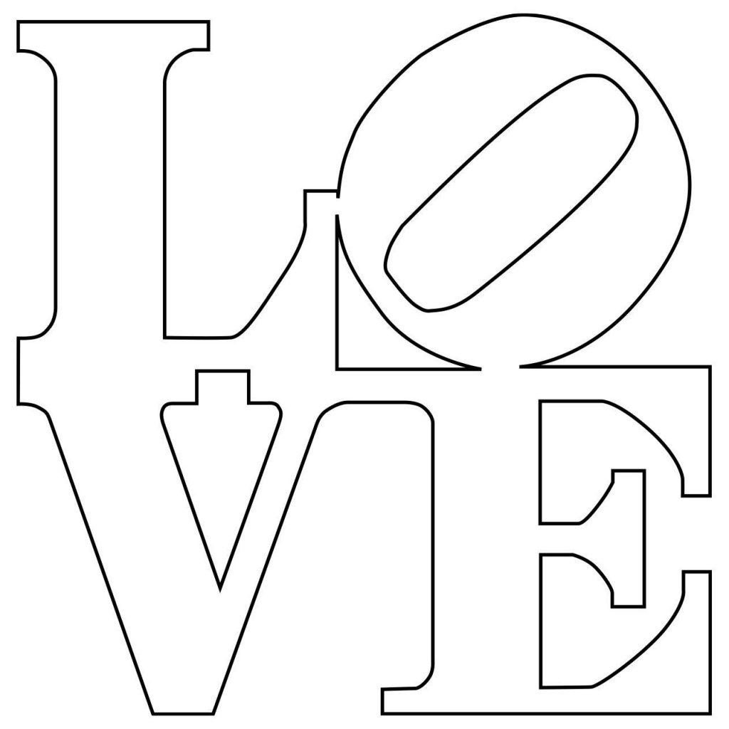 Imagen de la palabra love en negro sobre blanco