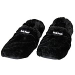 Hot Feet Microwave Slippers Black
