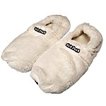 Hot Feet Microwave Slippers White