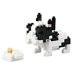 Nanoblock French Bulldog Pied