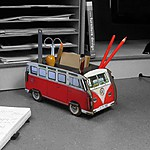 VW T1 Desk Tidy Red