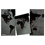 Black XL Pin World Map