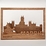 Wooden Postcard Madrid