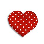 Polka-Dotted Heart Warming Pillow