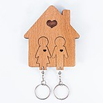 Keyholder with Keychains - Boy & Girl