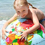 Inflatable World Globe (Spanish) by CALY