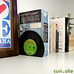 Retro Vinyl Bookends