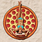 Gigantic Pizza Beach Blanket