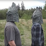 Howling Wolf Head Mask