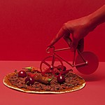The Fixie Pure Red - Blue Pizza Cutter