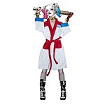 Suicide Squad Harley Quinn Daddy's Little Monster Women's Adult Fleece Bathrobe.