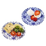Mini Party Porcelain Blue Plates