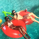 Giant Double Cherries Pool Float