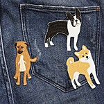 Iron-on Patch Dogs