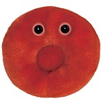 "Plush Microbe Toy ""Red Blood Cell"""