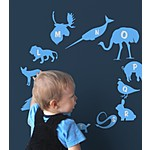 Alphabet Zoo Kids' Wall Stickers