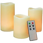 Real Wax Flameless Candles with Timer