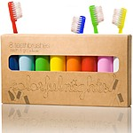 """Colorfulnights"" Pack of 8 Travel Toothbrushes"