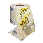 200-Euro Bill Money Toilet Paper
