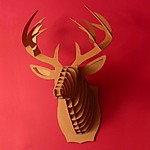'Buck Jr', Medium Cardboard Deer Trophy