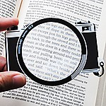 Bookmark with Magnifying Lens Camera
