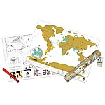 Mapa de Rascar Scratch Map Travel Edition