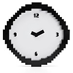 Pixel Time Pixelated Wall Clock