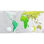 """FutureMaps"" Green World Wall Map"