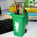 Garbage Bin Pencil Holder