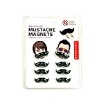 Funny Retro Moustache Fridge Magnets