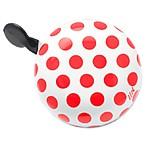 """Ding Dong"" Red Polka-Dot Bicycle Bell"