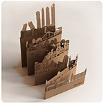 """Pocket-Sized Cities"" Madrid Postcard"
