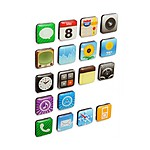 iPhone Icon Novelty Fridge Magnets
