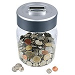 Digital Counting Money Jar Euros / Pounds