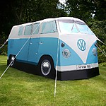 VW Camper Van Blue Exact Scale Replica Tent - Blue