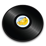 """Vinyl Record"" Glass Chopping Board"