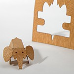 Wooden Postcard Elephant