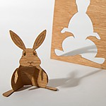 Wooden Postcard Hare
