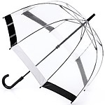 Birdcage Clear Umbrella Black-white