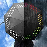 Collapsible Novelty Umbrella that Changes Colors