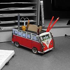 Organizador de Escritorio Furgoneta Volkswagen Rojo