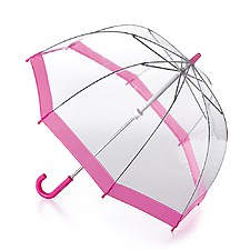 """Paraguas Transparente para Niños """"Birdcage""""  Rosa"""