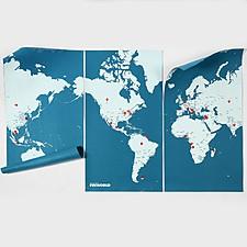 "Mapamundi de Fieltro Gigante ""Pin World"""