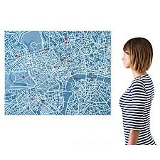 Mapa de Londres de Fieltro Azul