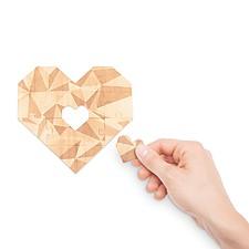 Puzzle Corazón de Madera